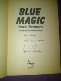 "My Signed Copy of ""Blue Magic"" by Hazel Townson"