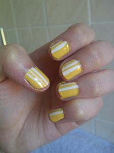 Retro Lemon Soda Stripes