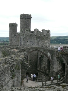 Conwy Castle - Great Hall from Above
