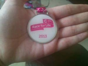 Race for Life Medal